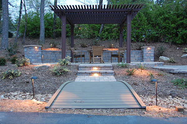 grass more outdoor services landscape lighting installation in