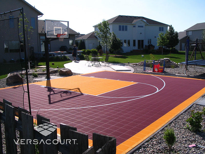 Grass Amp More Outdoor Services Backyard Basketball Court
