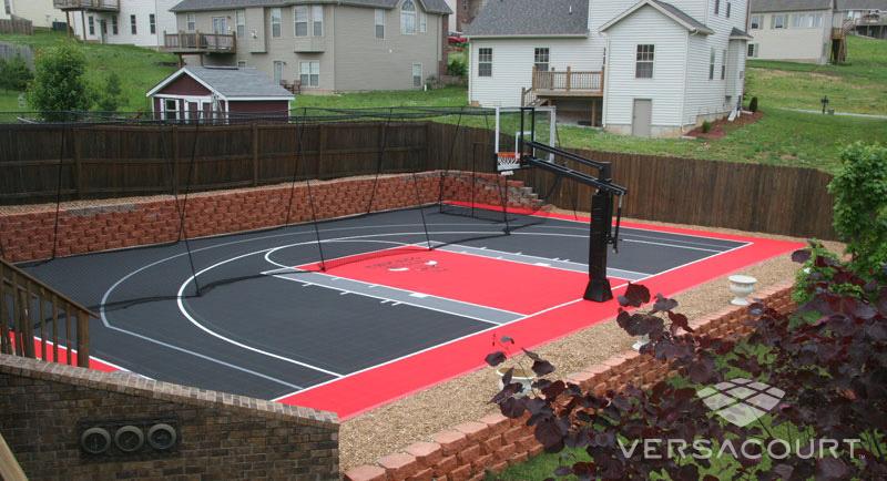 Grass & More Outdoor Services   Backyard Basketball Court ...