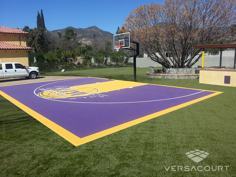 Navigation - Grass & More Outdoor Services Backyard Basketball Court