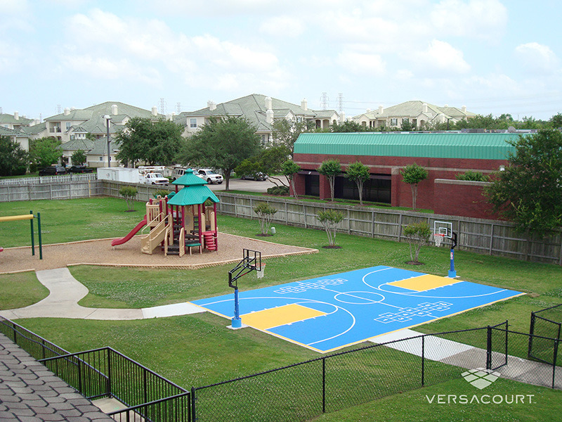 Grass more outdoor services multi sport game courts in for Backyard multi sport court